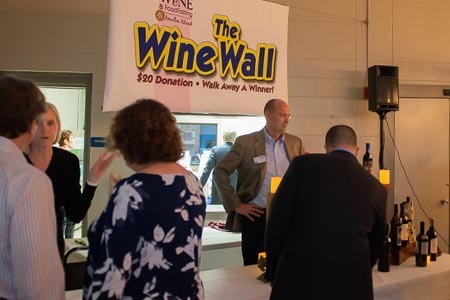 The Wine Wall at the 2019 Wine and Food Tasting of Amelia Island